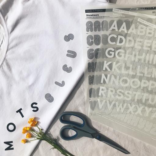 Upcycling d'un tshirt avec des transferts Mecanorma